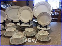 NORITAKE china FAIRMONT 6102 pattern 42 piece SET SERVICE for Twelve (8)