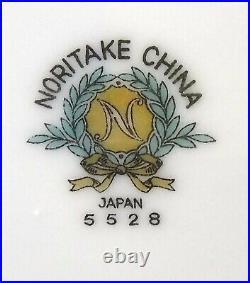 NORITAKE china FLORENCE 5528 coupe pattern 83-piece Set SERVICE for 12