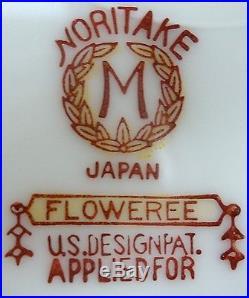 NORITAKE china FLOWEREE 86558 pattern 54-piece SET SERVICE for Eight (8)