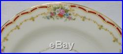 NORITAKE china FONDALE 605 pattern Set of 12 Square Salad Dessert Plates 7-7/8