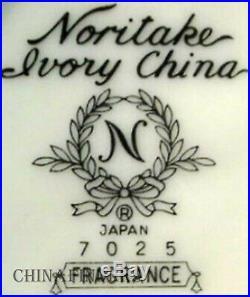NORITAKE china FRAGRANCE 7025 pattern 54pc Set dinner/salad/bread/fruit/cup