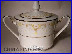 NORITAKE china FRAGRANCE 7025 pattern 7pc Hostess Set platter/bowl/salt/sugar