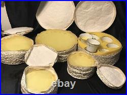 NORITAKE china FROLIC 2352 pattern 40-pc SET SERVICE for EIGHT (8) + Soft Case