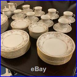 NORITAKE china GALLERY 7246 pattern 58-piece SET SERVICE for 8