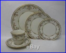 NORITAKE china GALLERY 7246 pattern 65-piece SET SERVICE for 12 with 5 Serving