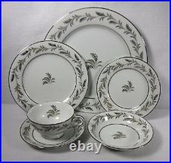 NORITAKE china GLENDON 5423 pattern 71-piece SET SERVICE for 12 + Fruit Bowls