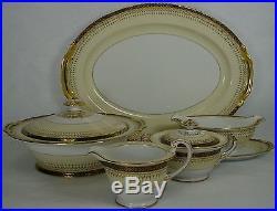 NORITAKE china GOLDBEAM 103006 pattern 8-pc HOSTESS SERVING SET