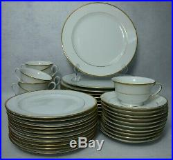 NORITAKE china GOLDCROFT 4983 pattern 40-pc SET SERVICE for 10 c/s dinner salad
