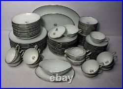 NORITAKE china GRAYCLIFF 5861 pattern 91-piece SET SERVICE + 6 Serving Pieces