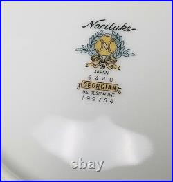 NORITAKE china Georgian 6440 pattern 60-piece SET SERVICE for 10 + Soup Bowls