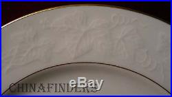 NORITAKE china HALLS OF IVY 7341 Gold Trim pattern 60 Piece Set Service for 12