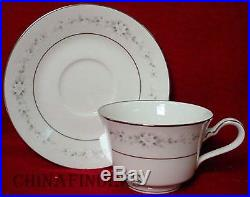 NORITAKE china HEATHER 7548 pattern 48-piece SET SERVICE for Eight (8) with soups