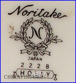NORITAKE china HOLLY 2228 pattern 5-pc HOSTESS SERVING Set