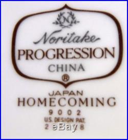 NORITAKE china HOMECOMING 9002 progression 15-piece HOSTESS SERVING set