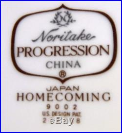 NORITAKE china HOMECOMING 9002 progression 80-pc SET SERVICE for 12 Incl serving