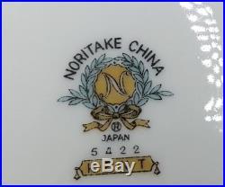 NORITAKE china KENT 5422 pattern 75-piece SET SERVICE for 12 & 6 SERVING PIECES