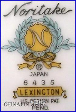 NORITAKE china LEXINGTON 6435 pattern 77-piece SET SERVICE for Twelve (12)