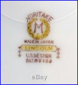NORITAKE china LINCOLN 68469 pattern 8pc Hostess/Serving Set