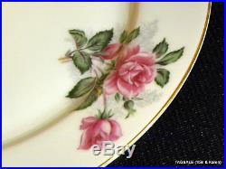 NORITAKE china LINDA pattern Pink Rose Cluster 4 X 5 Piece Place Settings