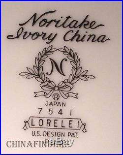 NORITAKE china LORELEI 7451 pattern 5-piece COFFEE Creamer & SUGAR BOWL Set