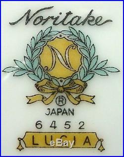 NORITAKE china LUCIA 6452 pattern 50-piece SET SERVICE for EIGHT (8)