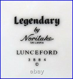 NORITAKE china LUNCEFORD 3884 pattern 60-piece SET Service for 12