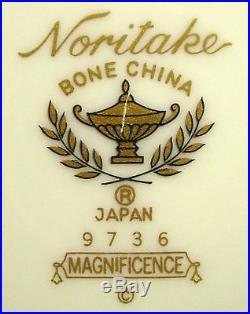 NORITAKE china MAGNIFICENCE 9736 pattern 60-pc SET SERVICE for TWELVE (12)