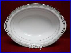 NORITAKE china MARGARET 6243 8-piece HOSTESS Service Piece SET platter gravy +