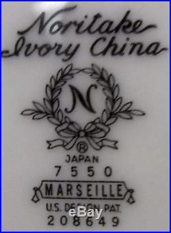 NORITAKE china MARSEILLE 7550 pattern 60-pc SET SERVICE for TWELVE (12)