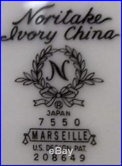 NORITAKE china MARSEILLE 7550 pattern 9-pc COFFEE DESSERT SET