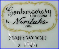 NORITAKE china MARYWOOD 2181 2556 pattern 8-piece HOSTESS SET