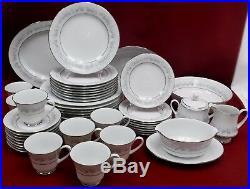NORITAKE china MARYWOOD 2181 pattern 47pc Set cup/dinner/salad/bread/serving