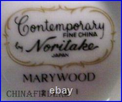 NORITAKE china MARYWOOD 2181 pattern 60 piece Set cup/dinner/salad/bread/saucer