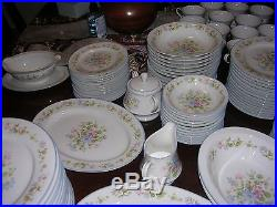 NORITAKE china MELODY pattern 7212. (101 pieces). Set for 12 or 14