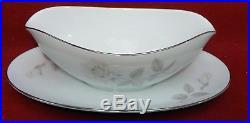 NORITAKE china MELROSE 5-piece HOSTESS SET Oval Bowl Oval Platter Gravy Boat