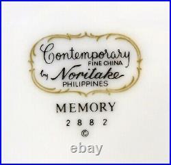 NORITAKE china MEMORY 2882 pattern 44pc Set cup/dinner/salad/bread/platter/sugar