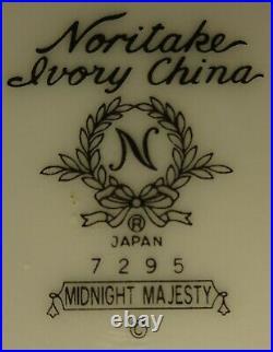 NORITAKE china MIDNIGHT MAJESTY 7295 pattern 48-piece Set SERVICE for 8