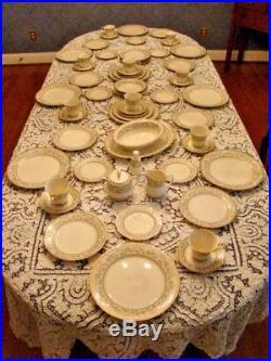 NORITAKE china MIYOSHI pattern 60-pc SET SERVICE for TEN (10) + Serving Pieces