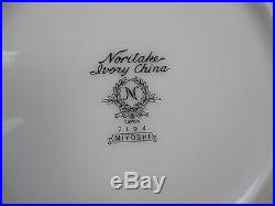 NORITAKE china MIYOSHI pattern 87-pc SET SERVICE for TWELVE (12) with Cr and Su