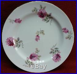 NORITAKE china N1325 PINK ROSES 20-piece Tea or Dessert Set -Teapot salad sugar+