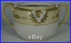 NORITAKE china N3996 GOLD ENCRUSTED pattern 21-pc TEAPOT DESSERT Set