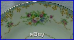 NORITAKE china N777 FLORAL SPRAYS pattern Set of Two (2) Square Salad Plates 8