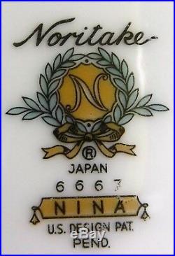 NORITAKE china NINA 6667 pattern 9-pc HOSTESS SERVING SET