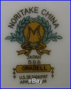NORITAKE china ORADELL #588 pattern 80-piece SET SERVICE for 12