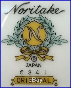 NORITAKE china ORIENTAL 6341 33-piece SET SERVICE for Four (4) + Serving