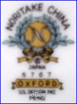 NORITAKE china OXFORD 5767 pattern 7-pc HOSTESS SERVING Set