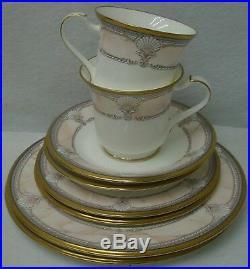 NORITAKE china PACIFIC MAJESTY 9771 pattern 8-piece LUNCHEON SET for TWO (2)