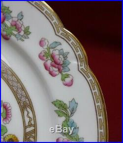 NORITAKE china PARNELL 302 pattern Set of 12 Square LUNCHEON Plates -Indian Tree