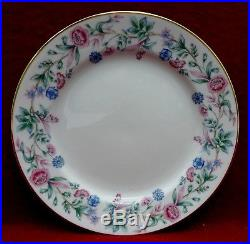 NORITAKE china PINK & BLUE FLOWERS ON A VINE N167 60-piece SET SERVICE for 12