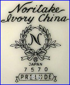NORITAKE china PRELUDE 7570 pattern 62-piece SET SERVICE for 8+